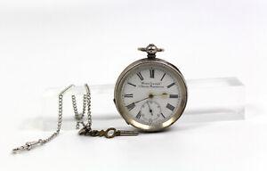 1895 Antik 925 Silber Schlüssel Taschenuhr ACME LEVER H. Samuel Manchester Swiss