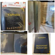 Canada Passport Leather Protective Holder 3.5x5 inches