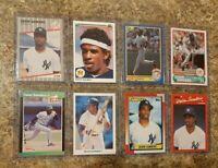 (8) Deion Sanders 1989 Donruss Fleer 1990 Leaf Upper Score Topps Rookie card lot