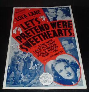 LQQK vintage 1936 pressbook, LOLA LANE in LETS PRETEND WE'RE SWEETHEARTS