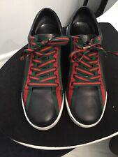 Men's Gucci Fashion Shoes Sneaker Size 10.5 US Black Leather