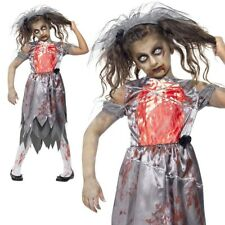 Niña Zombie Disfraz de Novia Cadáver Infantil Deadly Cementerio Halloween