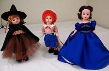 3 Madame Alexander Dolls,Halloween Magic,Mop Top Billy,Portrait Scarlet,w/ Tags