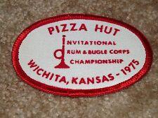 PIZZA HUT - NEW - 1975 OVAL DRUM & BUGLE CORP CHAMPIONSHIP PATCH - WICHITA, KS