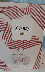 DOVE Radiant Relaxing and Reviving Body Wash Duo & Bath Puff Gift Set