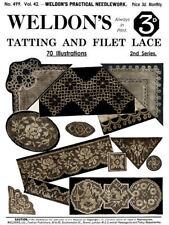 Weldon's 2D #499 c.1926 Vintage Instructions for Tatting & Netting Filet Laces
