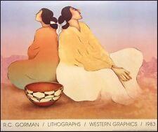 "R C Gorman Poster ""Santo Domingo"" Vintage GALLERY Poster FREE US SHIPPING NICE"