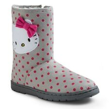 HELLO KITTY Faux-Suede Zip-Up Fashion Boots Shoes NWT Girls 13 up to Youth 4 $30