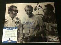 Richard Petty & Maurice Petty Dual Signed 8x10 Photo COA Autograph BAS Beckett