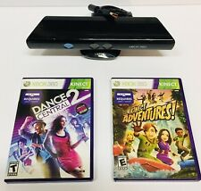 Microsoft XBOX 360 Kinect Sensor Bar With 2 Games FREE SHIPPING & WORKS GREAT!