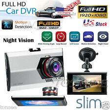 "1080P 3"" HD LCD Dual Lens Car Dash Camera Video DVR Cam Recorder Night Vision"