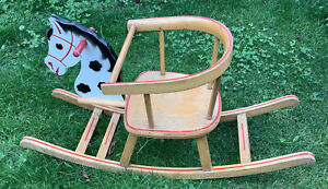 RARE Antique Heilag 1950s Vintage rocking horse - Great Condition For Age