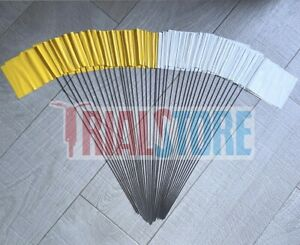 Trialstore Trials Section Flags Yellow/White Trials-Offroad-Adventure FreePP