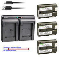 Kastar Dual Charger Battery for Canon BP-511 CG-580 & Optura 50MC Optura 100MC