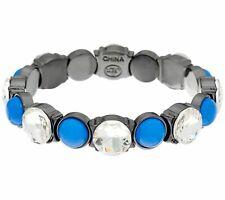 Rounded Stone Stretch Bracelet $109 Qvc Logo Links by Lori Goldstein