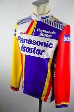 Panasonic Isostar Agu vintage cycling jersey maglia Rad Trikot Gr. 3 S 50cm V5