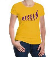 Damen Kurzarm Girlie T-Shirt The Evolution of basketball Fanshirt Trikot kaufen