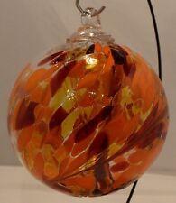 """6"""" Dark Sun Witch Ball Kugel Friendship Gazing Spirit Glass Ball"""