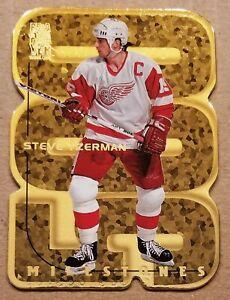 1998-99 BAP Be A Player All Star Milestones GOLD Steve Yzerman Card #M4 HOF