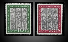 1951 GERMANY USED ISSUE SURTAX RECONSTRUCTION MARIENKIRCHE SCT 316-317