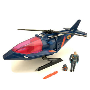Vintage 1980's Kenner M.A.S.K Switchblade Helicopter + Figure MASK Toy Vehicle