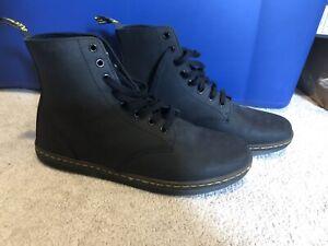 EUC Mens Doc Martens Tobias Black Leather Boots sz 12 Airwave Dr.