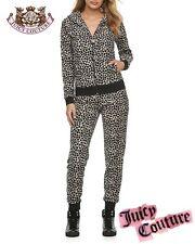 Juicy Couture Leopard Track Suit Lurex Pleated 2pc Luxury Set Yoga Pants XS NWT