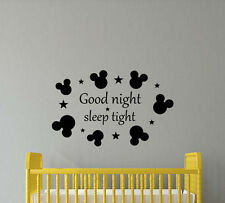 Good Night Sleep Tight Wall Decal Nursery Quote Vinyl Sticker Disney Decor 427