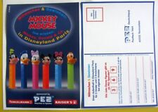 "PEZ Werbung ""Mickey Mouse"" orig. Gewinnspielkarte Postkarte Germany 2002"