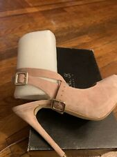 Cristhelen B. Beige Suede Shoes