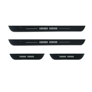 Car Door Sill Scuff Plate Rechargeable LED RGB Flowing Welcome Pedal Lights 4Pcs