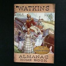 Watkins 1938 Almanac Home Book 70th Anniversary Spices Recipes Beauty Medicine