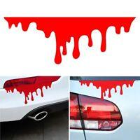 2Pcs New Vinyl Zombie Car Sticker Drip Bleeding Red Blood Auto Decal Reflective