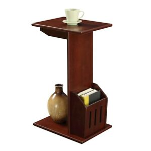 Convenience Concepts Designs2Go Abby Magazine C End Table, Mahogany - 7103022MG