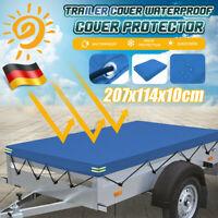 Anhänger PKW Abdeckplane 2075x1140 Anhängerplane Gummiseil Flachplane Stema DE