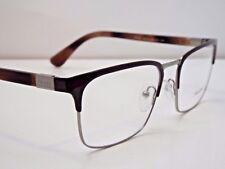 Authentic PRADA VPR 54T USF-1O1 Gunmetal Brown Eyeglasses Frame DEMO MODEL $350