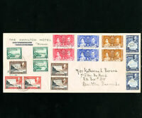 Bermuda 17 Stamps On Early Hamilton Hotel Cover