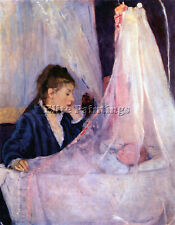 CRADLE BY MORISOT ARTIST PAINTING REPRODUCTION HANDMADE CANVAS REPRO ART DECO
