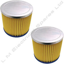 2 x Wet & Dry Vacuum Filter Cartridge For Earlex Combivac Powervac WD1000 WD1100