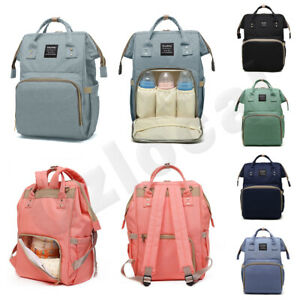 Luxury Multifunctional Baby Diaper Nappy Backpack Maternity Mummy Changing Bag