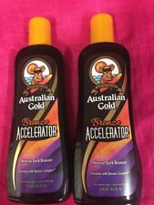 AUSTRALIAN GOLD BRONZE ACCELERATOR TANNING LOTION~100% AUTHENTIC~.LOT OF 2