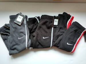 New Nike KO 2.0 Boys Fleece Cuffed Therma Fit Sweat Pants Sizes 4 $38 Black Gray