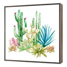 Beautiful Cactus Painting Framed Wall Canvas Art Home Decor