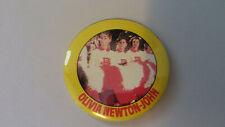 Olivia Newton-John Grease John Travolta vintage logo buttons pop LARGE BUTTON 17