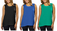 NEW Adrienne Vittadini Ladies' High-Low Sleeveless Top - VARIETY