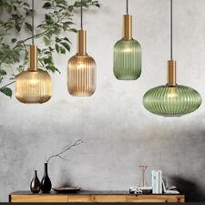 Nordic Glass Pendant Ceiling Lights 3 Colors Diy Decor Hanging Lamp Fixture