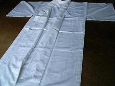 Zen meditation Kimono Juban,Japanese monk white robe,Buddhist custom-made,Cotton