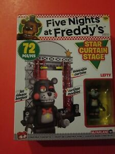 NEW Five Nights at Freddy's McFarlane Star Curtain Stage LEFTY 72 Pc