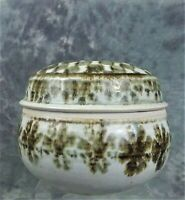 VINTAGE STUDIO ART POTTERY BOX SIGNED AND DATED YEAR '82