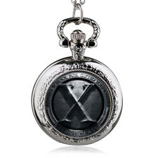 X-Man Movies Extension X Design Pocket Watch With Pendant Chain Necklace Gift